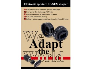 Electronic Aperture EOS NEX adapter